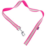 Pet Supplies - Pet Dog Lead & Clip Pink/Grey - 1m - 2cm - M