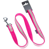 Pet Dog Lead & Clip Pink/Grey - 1m - 2cm - M