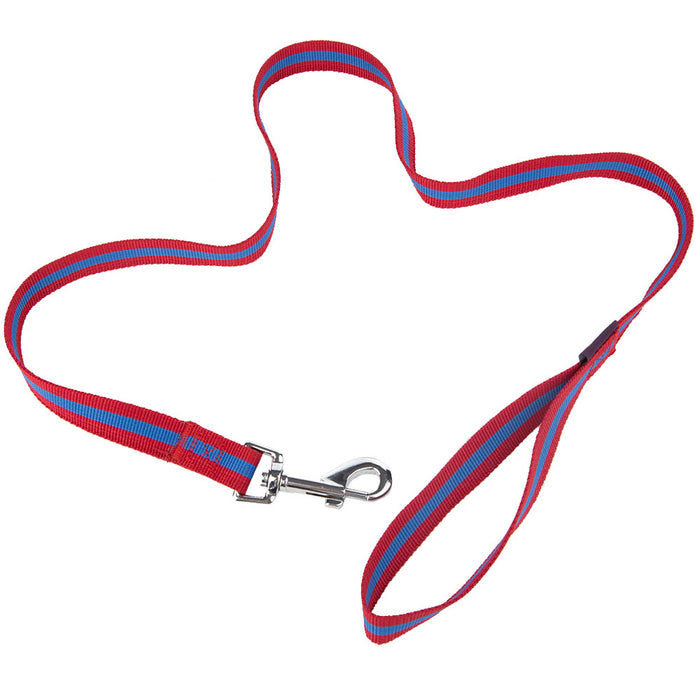 Pet Supplies - Pet Dog Lead & Clip Red/Blue - 102cm - 1cm