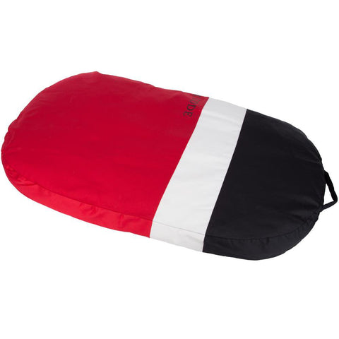 Deluxe Oval Pet Dog Bed Cushion - Washable - Red/Black - Medium - 80cm