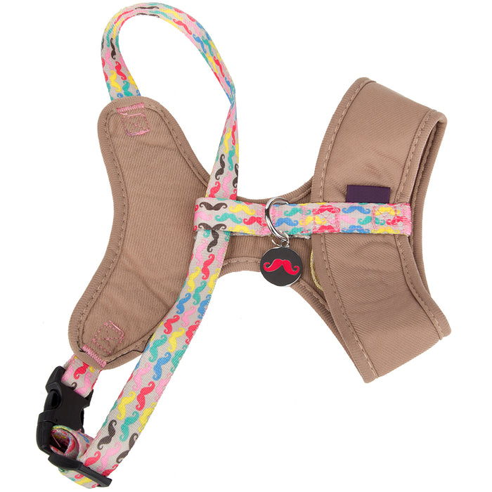 Pet Puppy Dog Harness Nylon Adjustable Chestplate Strap -Small- Beige
