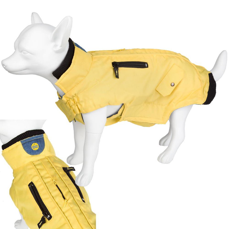 Dog Puppy Outdoor Coat - Yellow - 48 Large