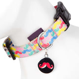 Pet Supplies - Pet Dog Puppy Collar Moustache Multi 32-50cm