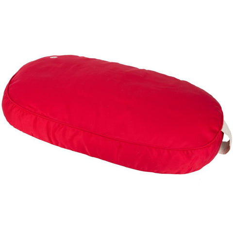 Pet Dog Bed Cushion Medium Oval - Red - 80 x 53cm