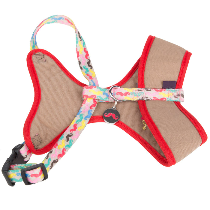 Pet Puppy Dog Harness Nylon Adjustable Chestplate Strap -X Small-Beige