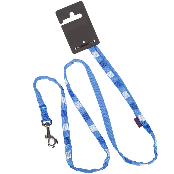 Pet Dog Lead Square Print Strap - Medium - Blue
