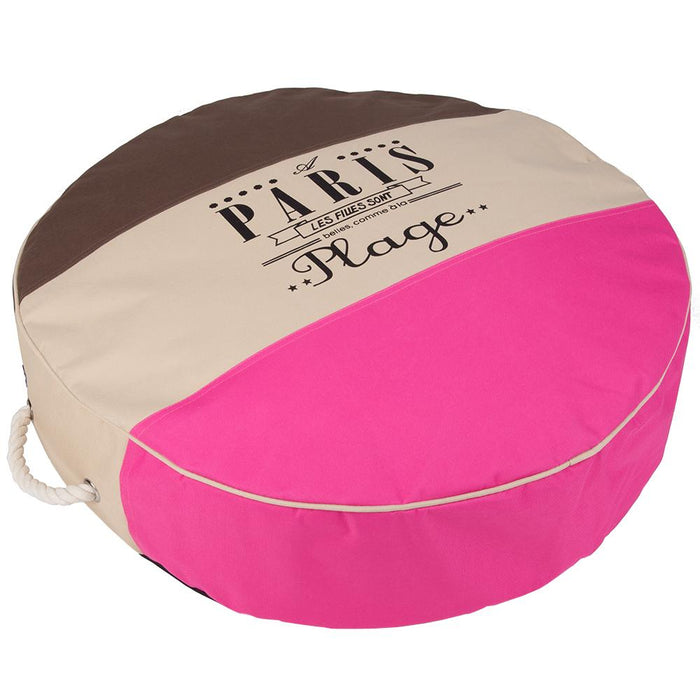 Pet Supplies - Pet Dog Bed Cushion Pink/Brown - Small 61cm