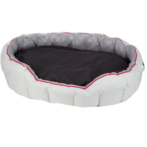 Pet Dog Bed Cushion Grey Black - Small - 60cm
