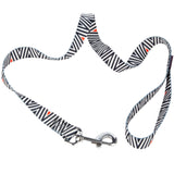 Pet Supplies - Pet Dog Lead & Clip Black/White 1m - 2.5cm