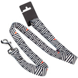 Pet Dog Lead & Clip Black/White - LRG 1m - 2.5cm