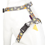 Pet Puppy Dog Harness Nylon Adjustable Triangle Strap -Medium- Yellow