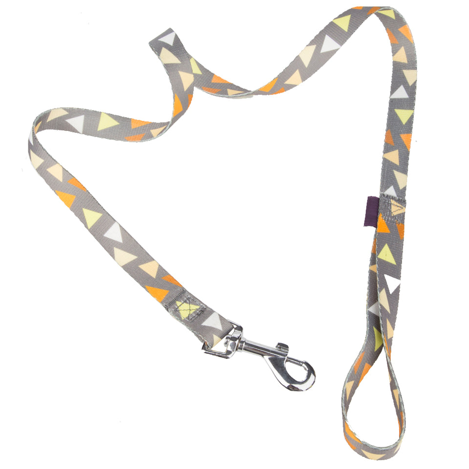 Pet Supplies - Pet Dog Lead & Clip Yellow/Grey - 1m - 1.6cm