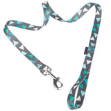 Pet Supplies - Pet Dog Lead & Clip Green/Grey 1m - 1cm - XS