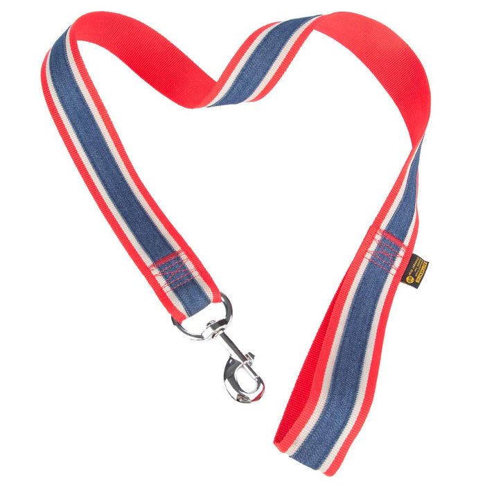 Pet Supplies - Pet Dog Lead & Clip Red/Blue 1.1m - 4cm - XL