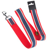 Pet Dog Lead & Clip Red/Blue - 1.1m - 4cm - XL