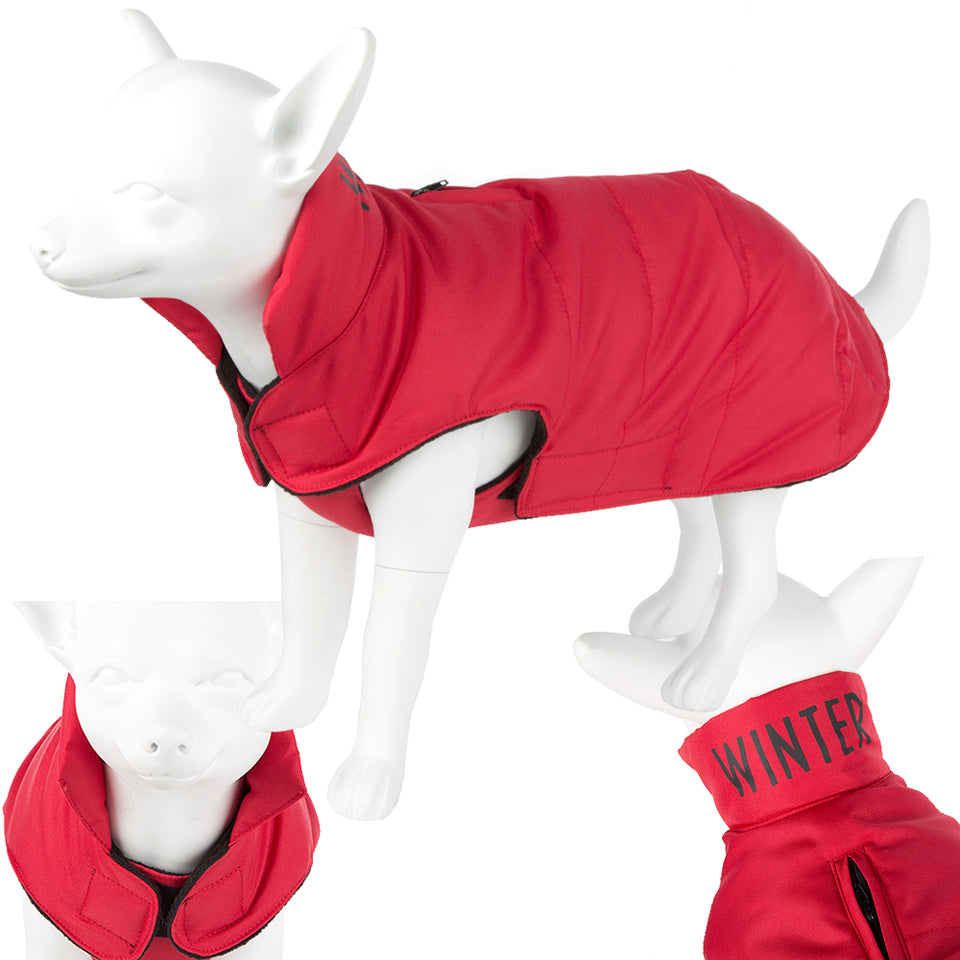 Pet Clothing - Washable Pet Dog Jacket - Red 38 Medium