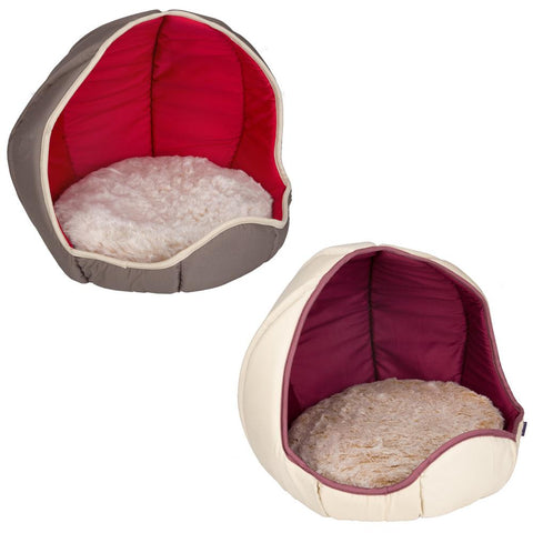 Soft Pet Cat Kitten Bed - Reversible Washable - 44 x 36cm Various Colours