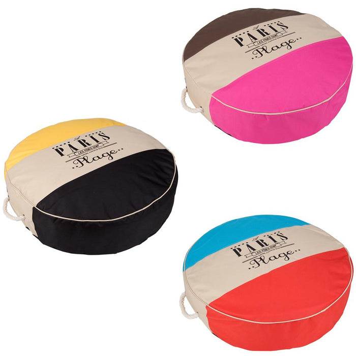 Circle Pet Dog Bed Cushion - Washable Cover - Small - Various Colours