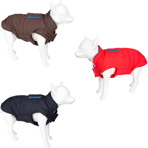 Pet Dog Waterproof Outdoor Coat - Soft Warm Padded Various Colours & Sizes