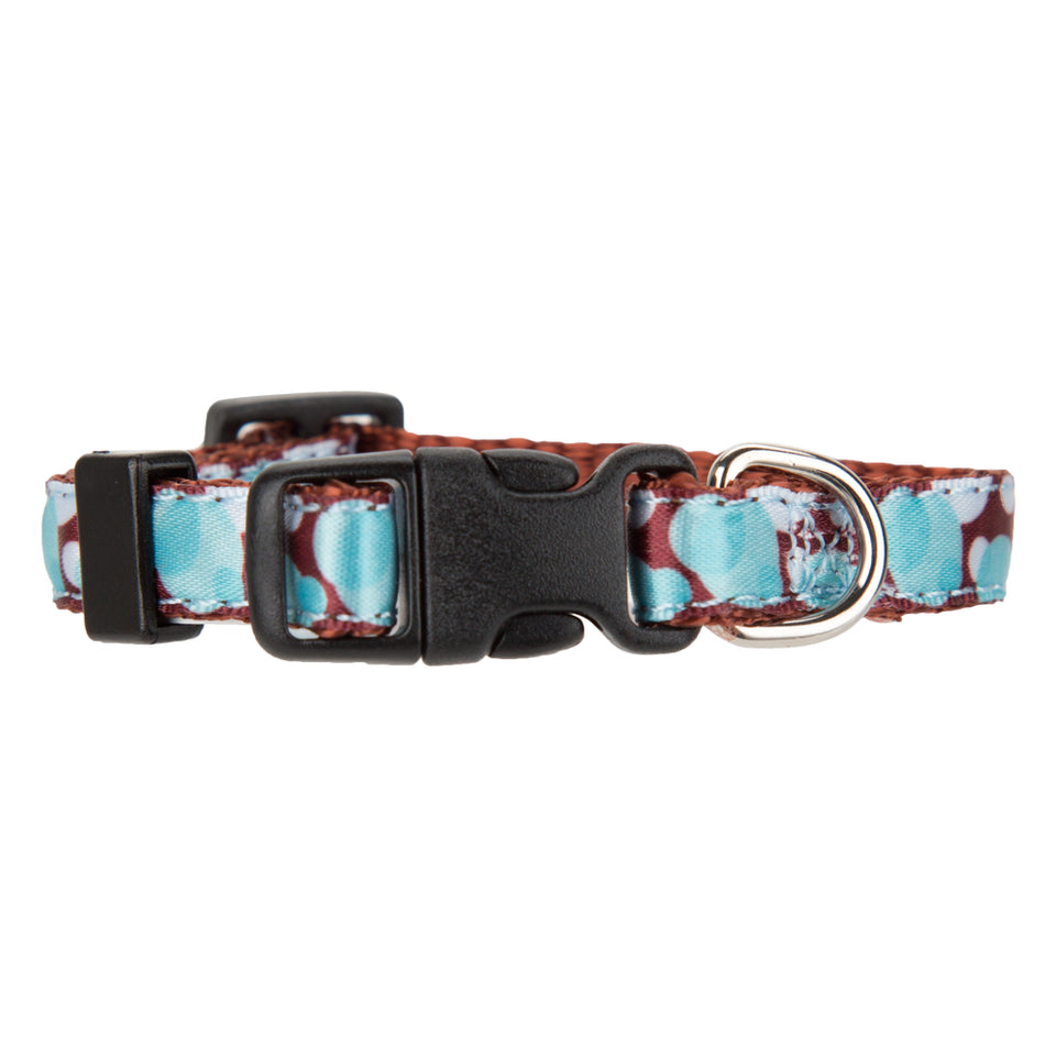 Pet Supplies - Adjustable Dog Nylon Collar Blue and Brown