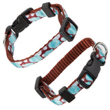 Adjustable Pet Dog Nylon Collar - Blue and Brown - Toy