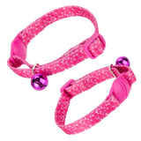 Pet Kitten Collar With Bell Pink - 22cm
