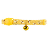 Pet Supplies - Pet Cat Kitten Collar With Bell Yellow 22.8cm