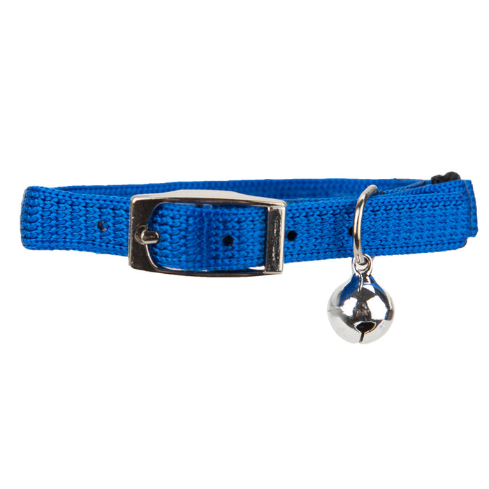 Pet Cat Collar With Bell Blue - 25.4cm