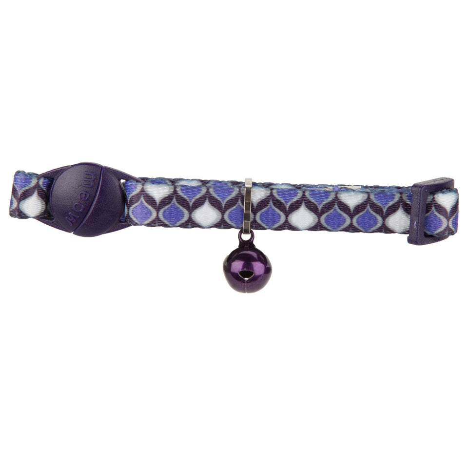 Pet Supplies - Kitten Collar With Bell Purple and White