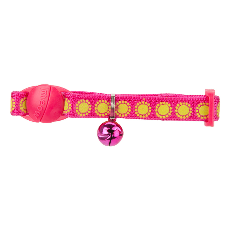 Pet Supplies - Pet Kitten Collar With Bell Pink 22.8cm