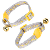 Pet Kitten Collar With Bell Purple - 22cm