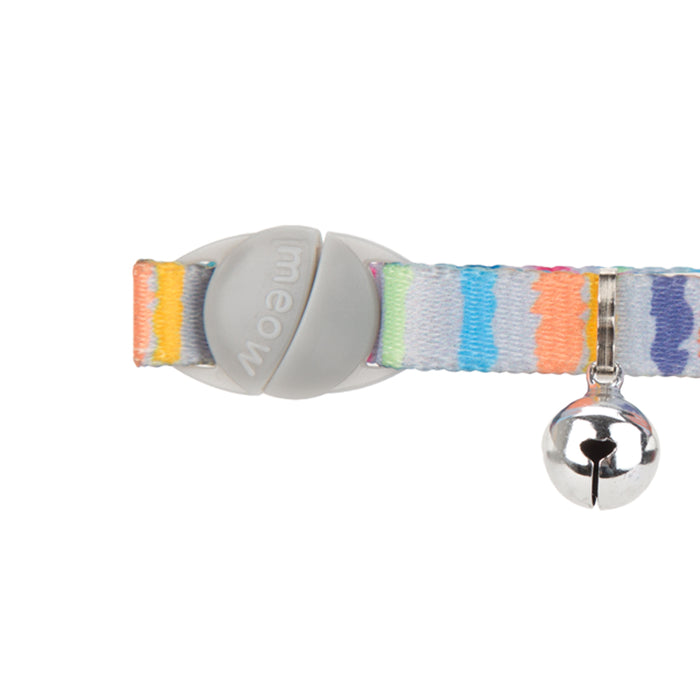 Pet Kitten Collar With Bell Multi Coloured - 22cm