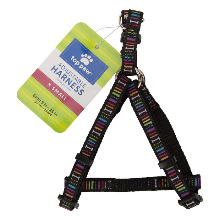 Adjustable Pet Dog Nylon Collar - Multi Coloured - X-Small