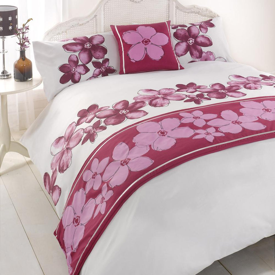 Textiles - Bed In A Bag Bedding Duvet Set - Kenzi Purple - Double