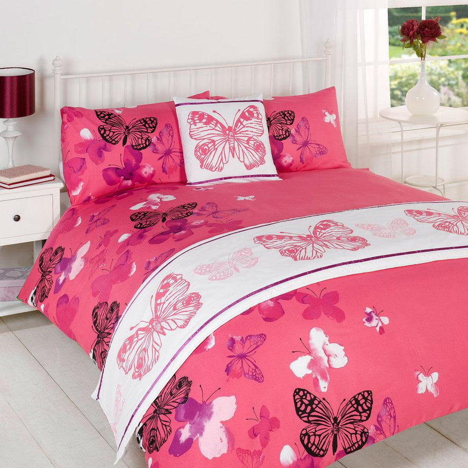 Textiles - Bed In A Bag Duvet Cover & Pillowcase Bed Set - Polilla Pink - King