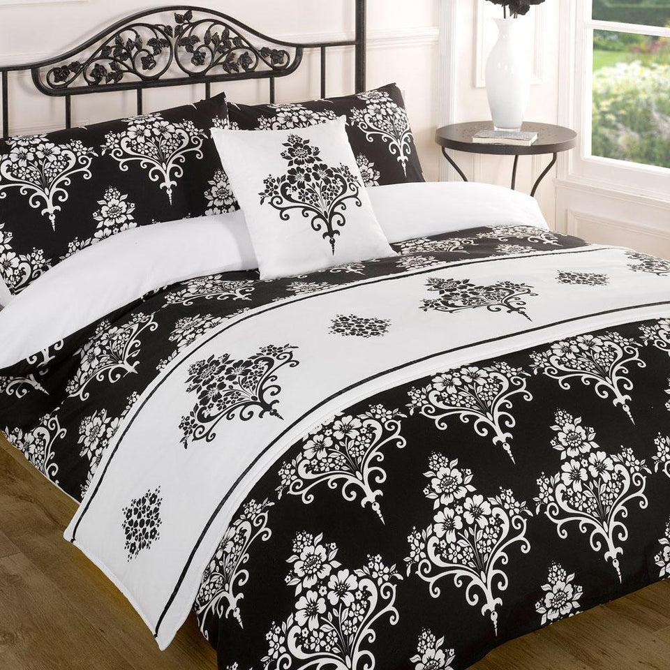 Textiles - Bed In A Bag Duvet Cover & Pillowcase Bed Set - Kate Black - Single