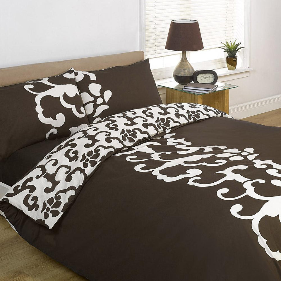 Textiles - Duvet Cover Bedding Chelsea Chocolate - Single