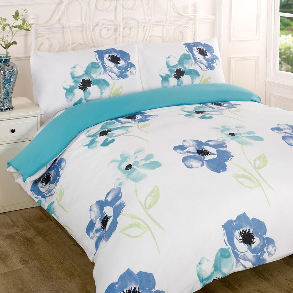 Textiles - Duvet Quilt Cover Bedding Dana Blue - Single
