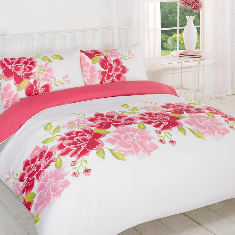 Textiles - Duvet Quilt Cover Bedding Caitlyn Pink Super King