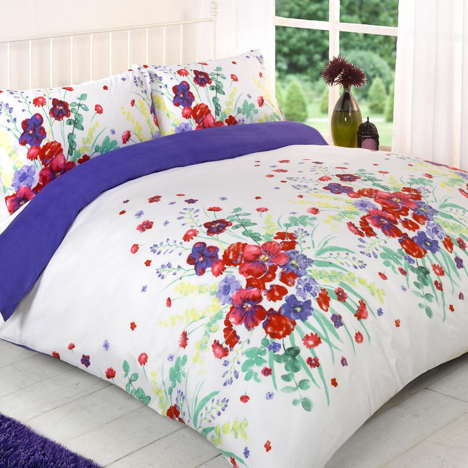 Textiles - Duvet Quilt Cover Bedding Set - Magda Purple - Single