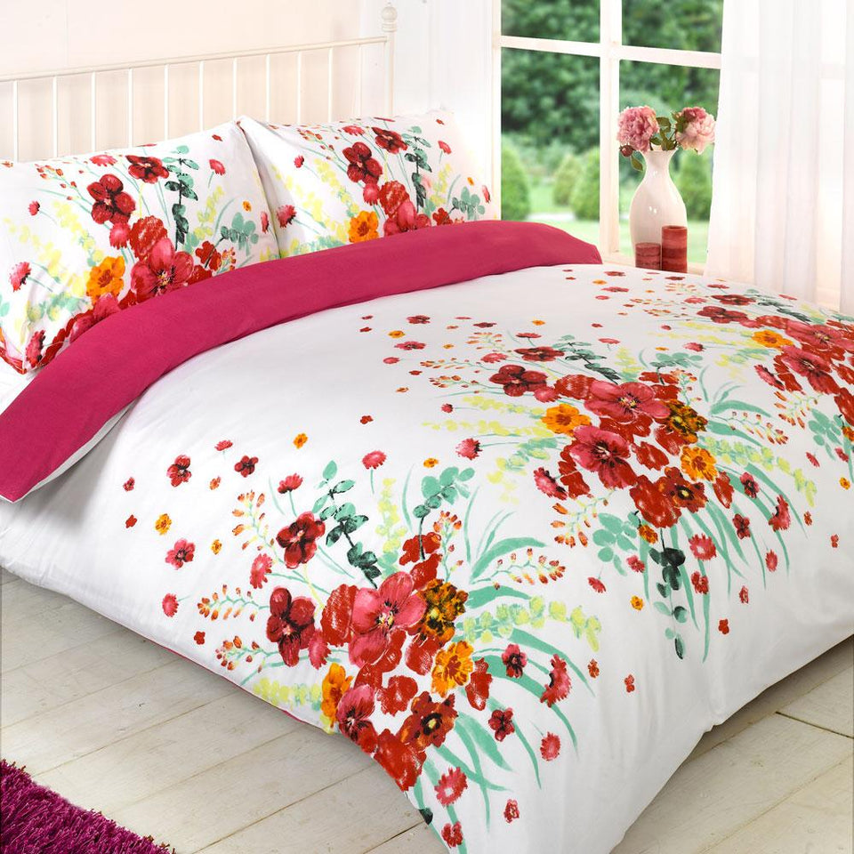 Textiles - Duvet Quilt Cover Bedding Magda Pink - Single