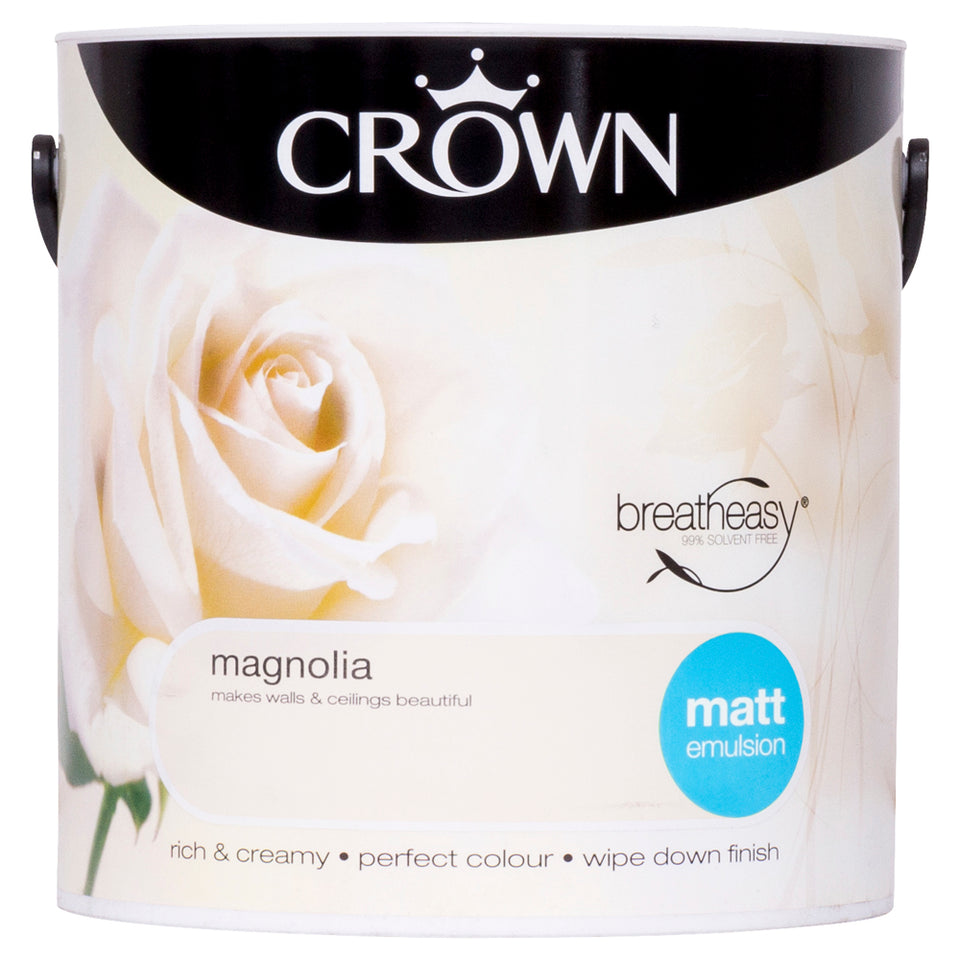 Crown Breatheasy Paint - Magnolia - Matt Emulsion - 2.5L