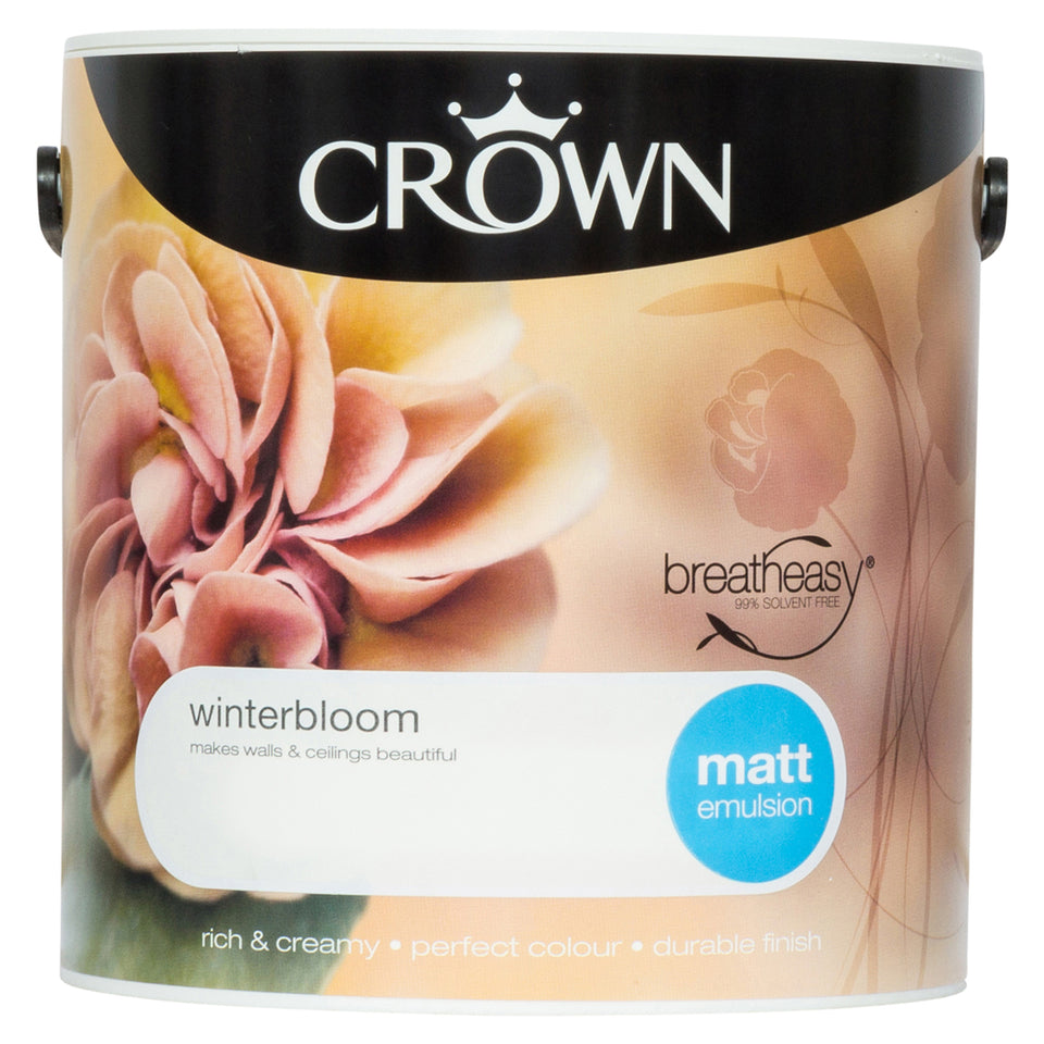 Crown Breatheasy Paint - Winterbloom (Cream) - Matt Emulsion - 2.5L