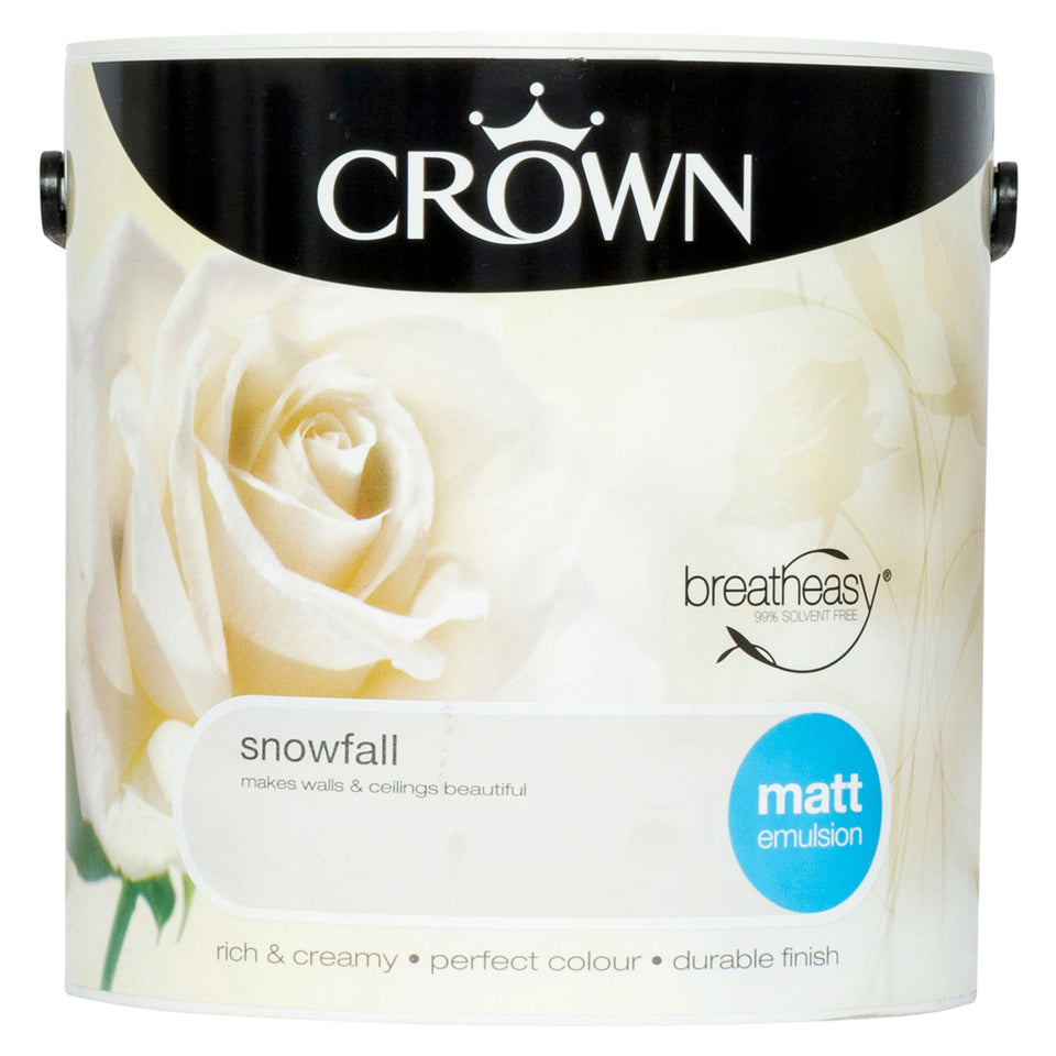 Crown Breatheasy Paint - Snowfall (Beige) - Matt Emulsion - 2.5L