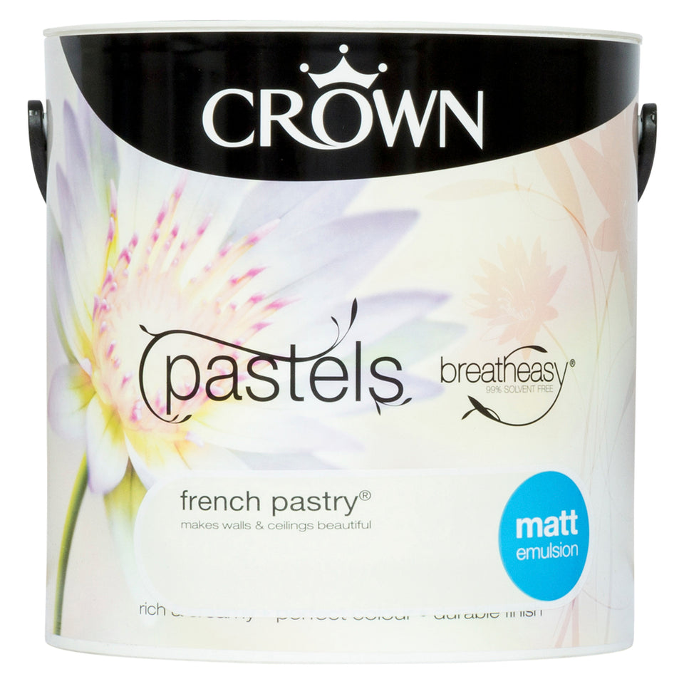 Crown Breatheasy Paint - French Pastry (Cream) - Matt Emulsion - 2.5L