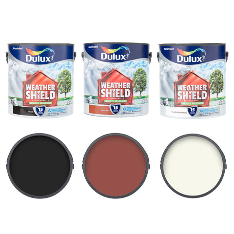 Dulux Weathershield Smooth Masonry Paint for Exterior Walls