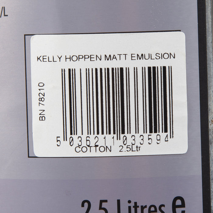 Kelly Hoppen Paint - Cotton Acrylic - Matt - 2.5L