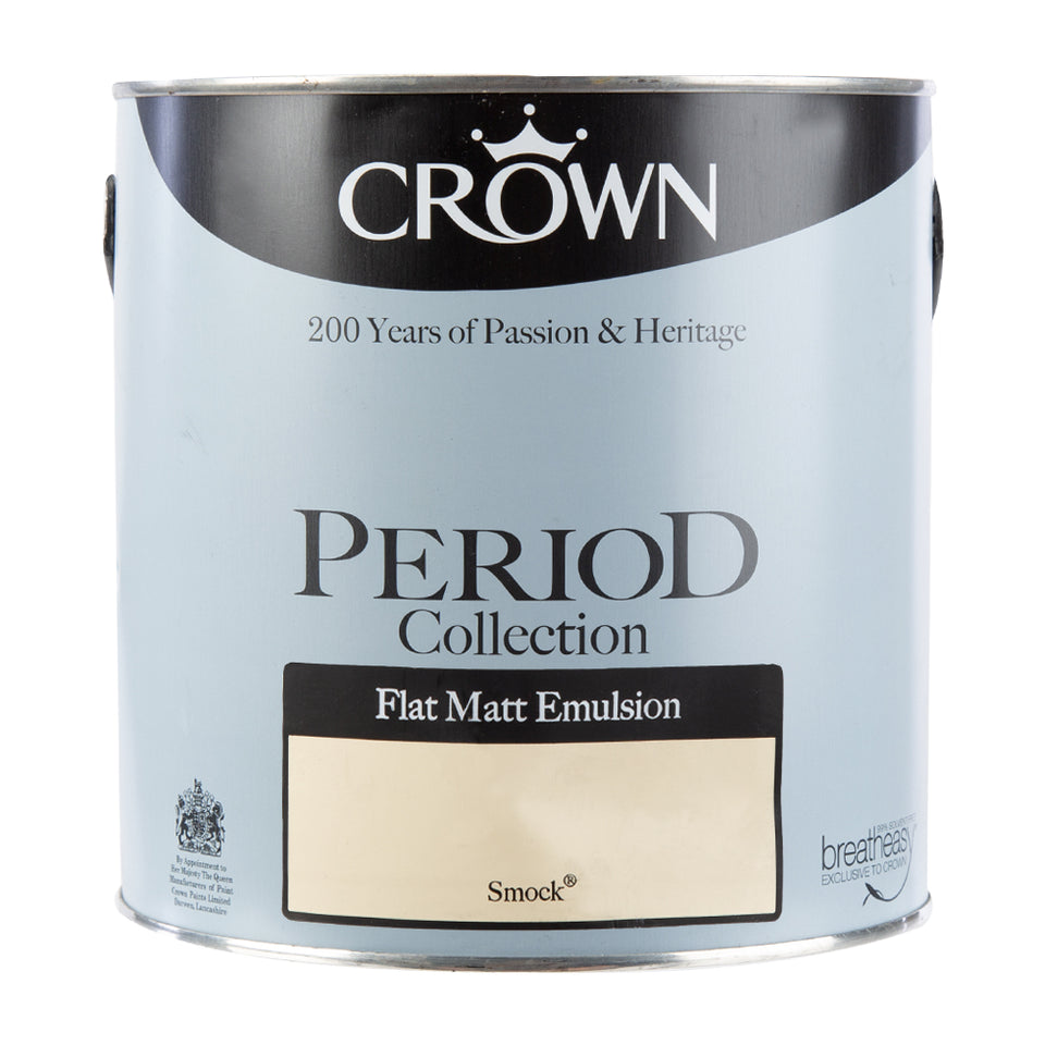 Paint & Varnish - Crown Period Collection Matt Paint - Smock - 2.5L