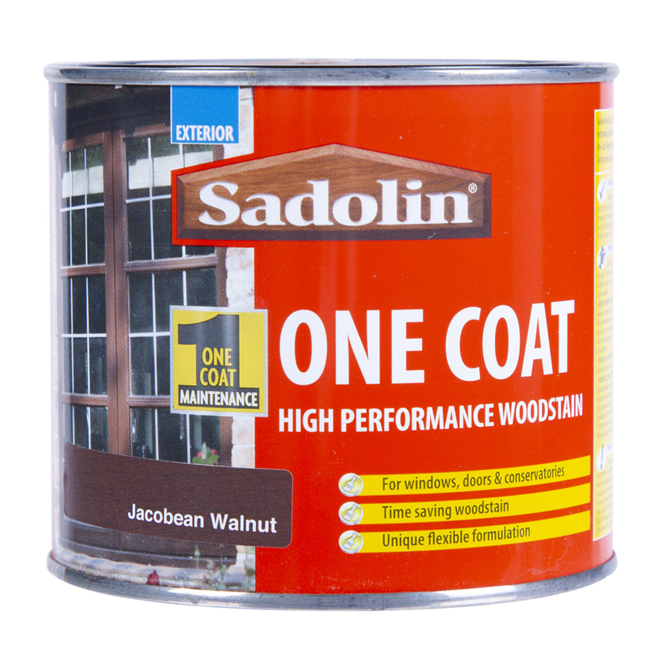 Paint & Varnish - Sadolin One Coat Woodstain - Jacobean Walnut - 500ml