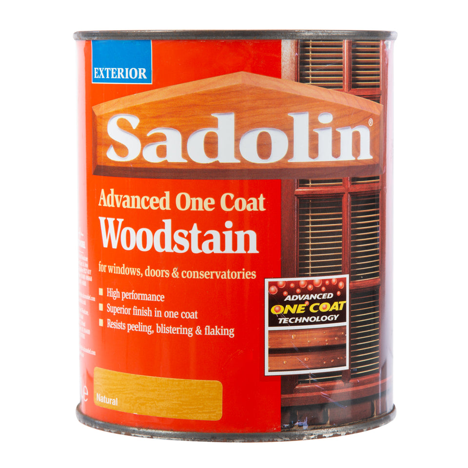 Paint & Varnish - Sadolin Advanced One Coat Woodstain - Natural - 1L